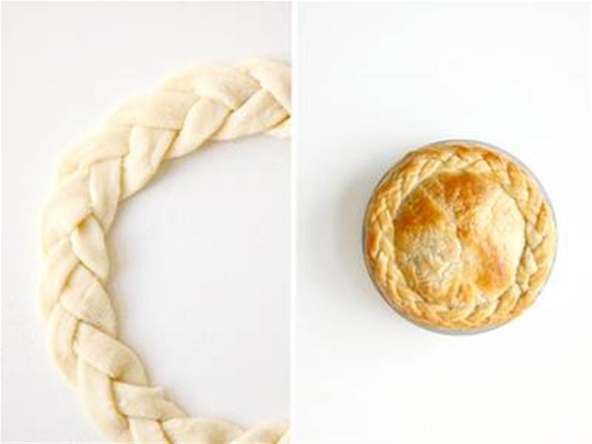 how to braid a pie crust