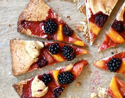 blackberry and nectarine tart