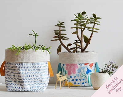 frankie exclusive diy: little fabric planters