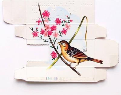 sara landeta's bird paintings