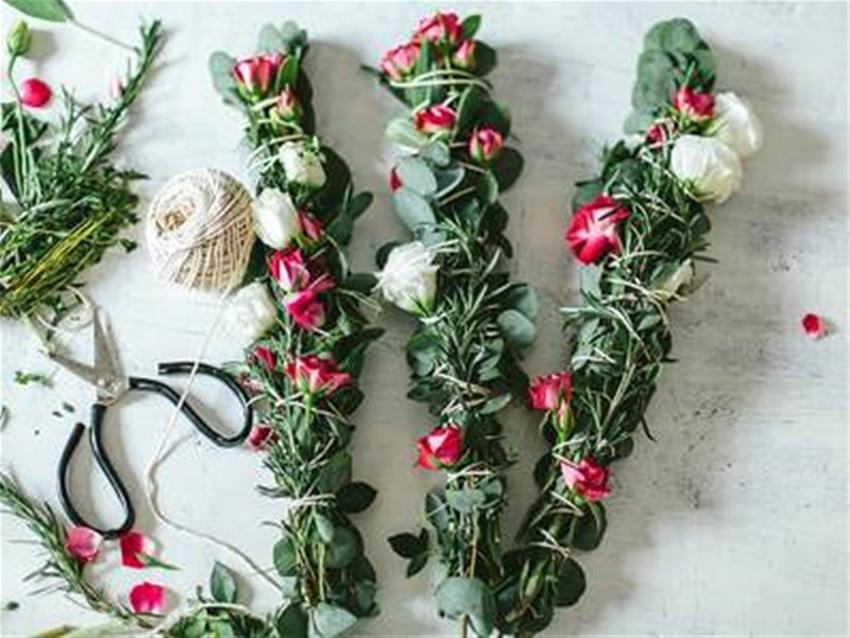 diy dried flower bundles