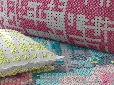 cross-stitch gan rugs and cushions
