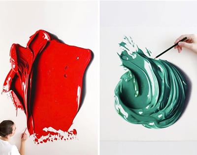 cj hendry's drawings of paint