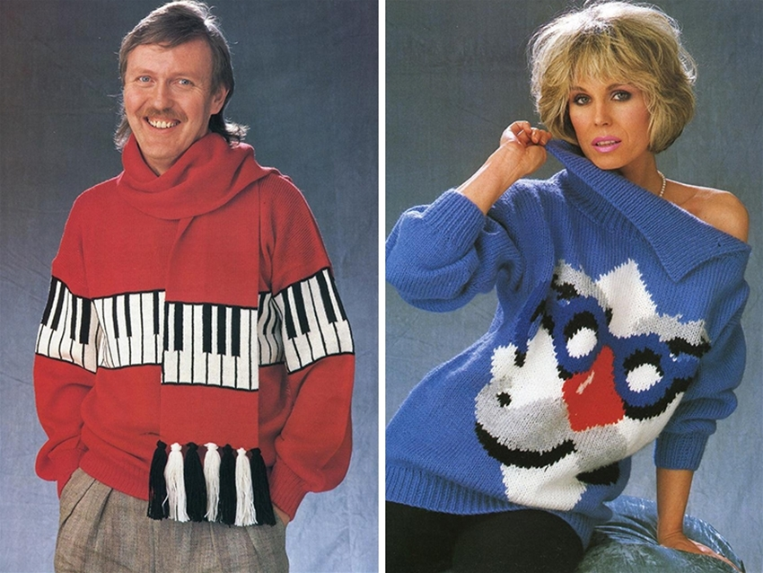 famous folk in ugly jumpers