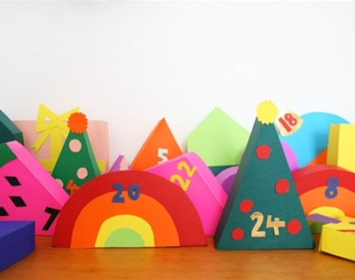 frankie exclusive diy: colourful countdown advent calendar