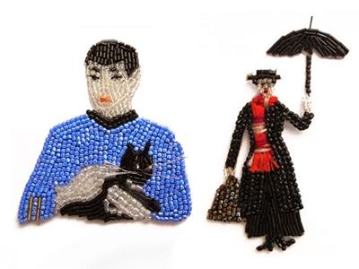marianne batlle's beaded portraits