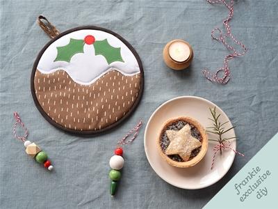 frankie exclusive diy: christmas pudding trivet