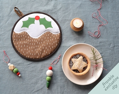 frankie exclusive diy: christmas pudding trivet