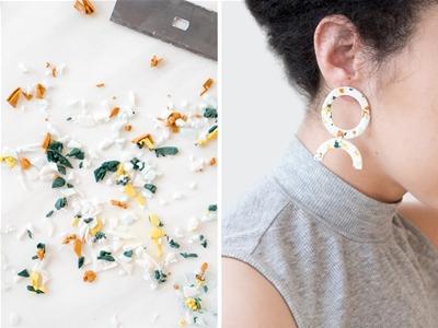 diy terrazzo earrings