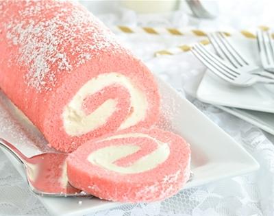 pink velvet swiss roll