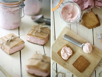 plum icecream sandwiches