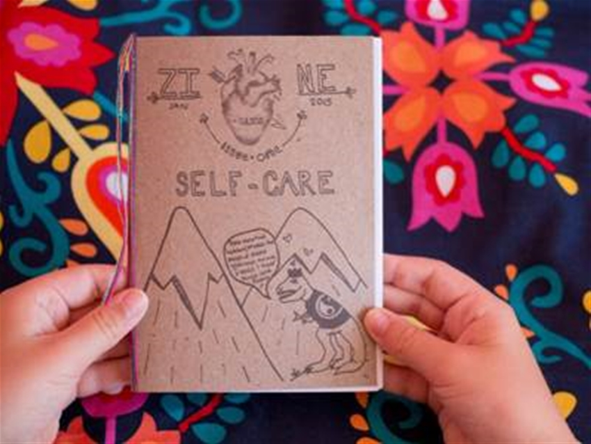 interactive intro to self-care zine