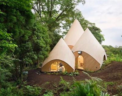a teepee-shaped home