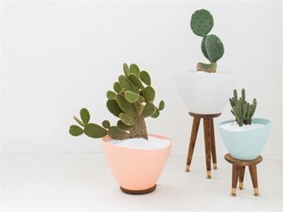 diy mid-century planters