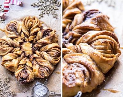 pull-apart snowflake bread