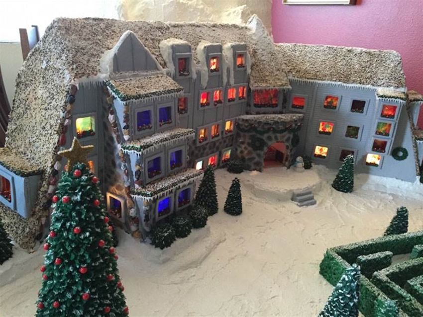 the overlook hotel made of gingerbread