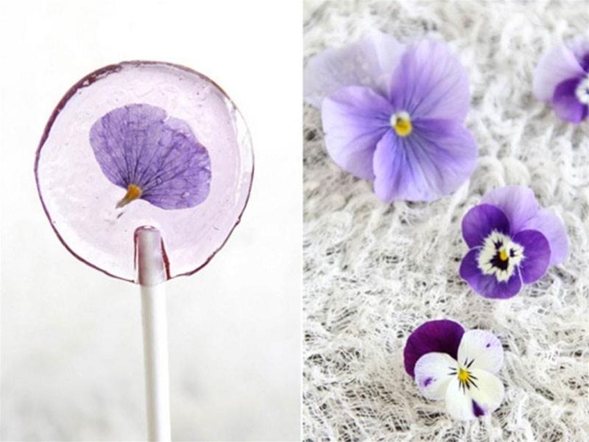 diy flower lollipops