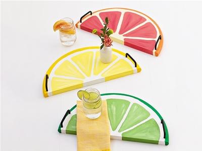 diy citrus serving trays