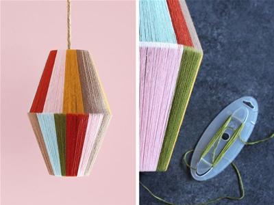 diy colourblock lamp