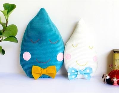 frankie exclusive diy: raindrop cushions