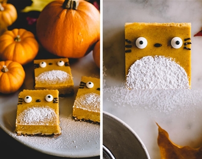 totoro pumpkin cheesecake