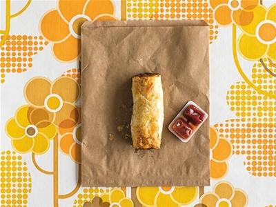 frankie food extract: sausage rolls