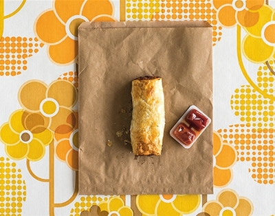 frankie food extract: sausage rolls