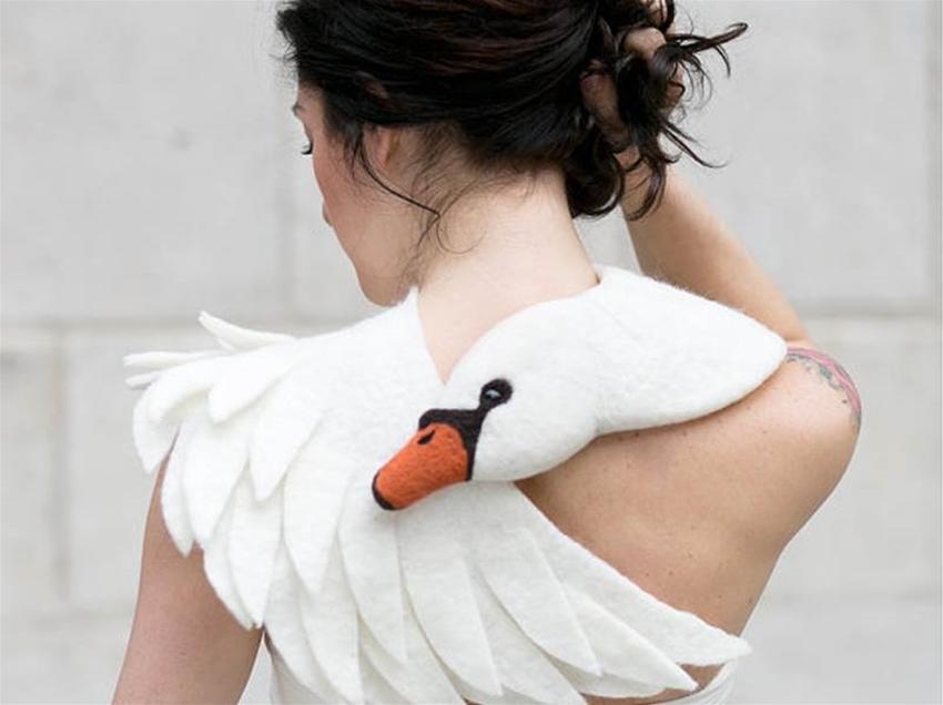 a swan scarf