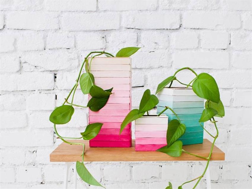 diy wooden vases