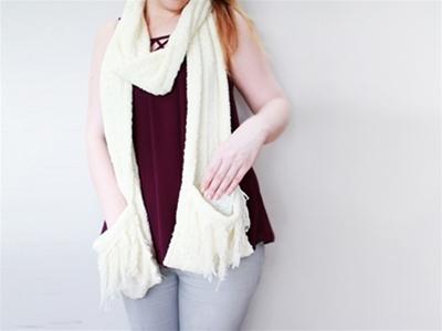 frankie exclusive diy: oversized pocket scarf
