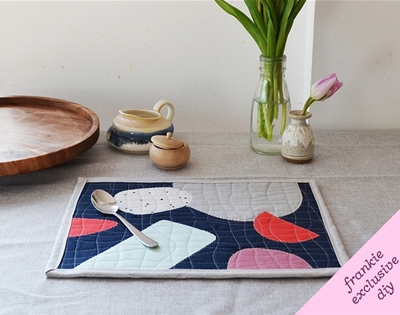 frankie exclusive diy: abstract quilted placemats