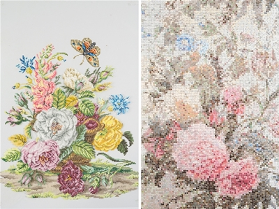 kirstin lamb's embroidery paintings