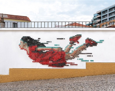 the artist taking cross-stitch to the streets