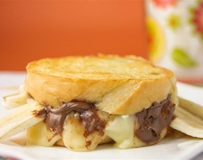 brie and nutella grilled sandwiches
