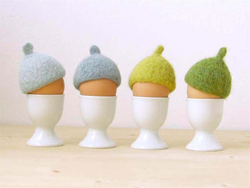 felted egg cosies