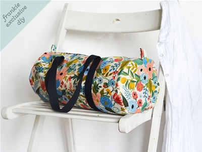 frankie exclusive diy: canvas duffle bag