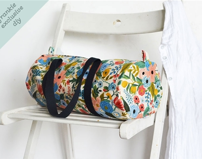 frankie exclusive diy: canvas duffle bag