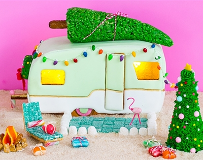retro camper gingerbread house