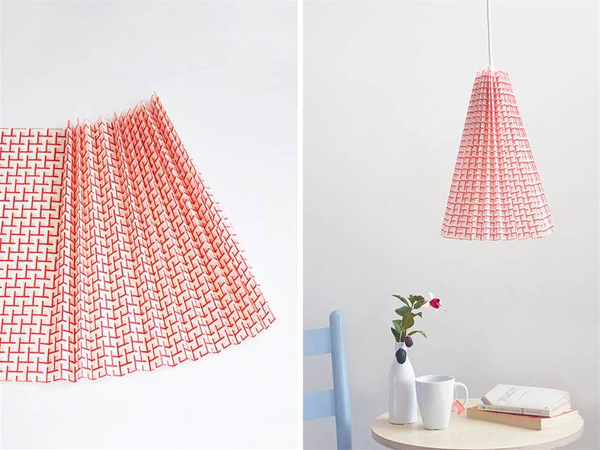 diy pleated pendant lampshade