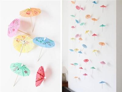 diy paper umbrella garland