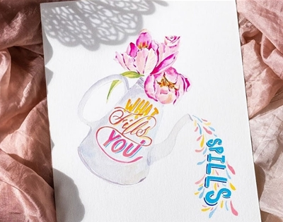 learn the art of brush lettering