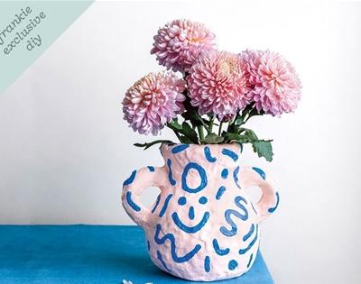 frankie exclusive diy: puff paint vase