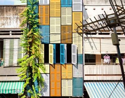vietnam's colourful shutter house