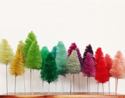 colourful rope tree diy