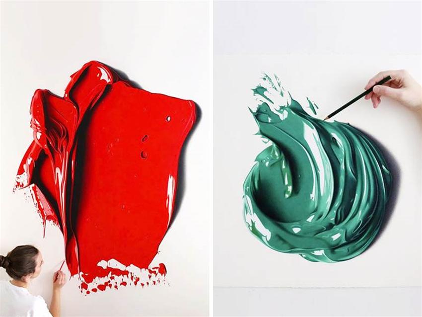 cj hendry's drawings of paint