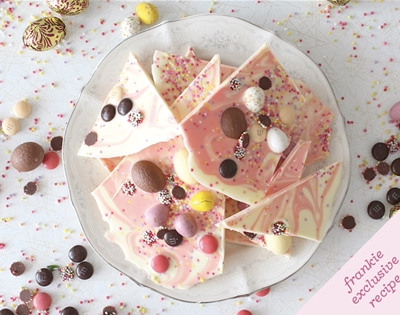 frankie fodder: easter chocolate bark