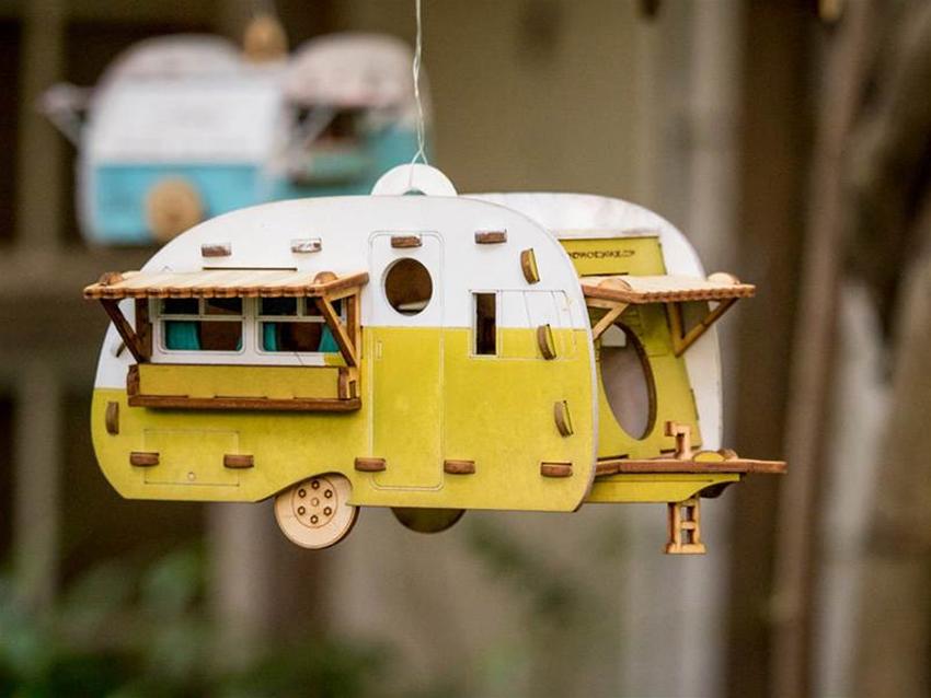 retro birdhouse camper kit