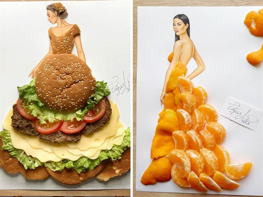 fashion illustration good enough to eat