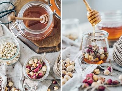 hazelnut and flower honey