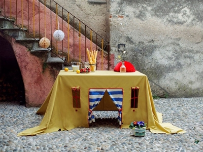 the tent table